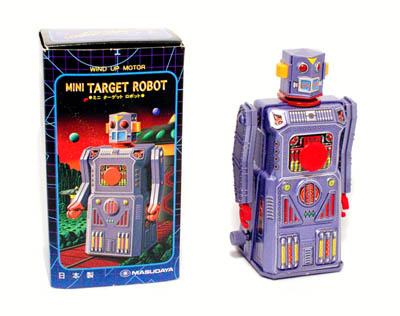 A wind-up, collector's edition replica of a classic 1960s toy robot