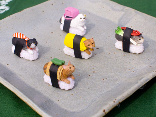 Set of sushi cats